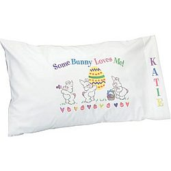 Personalized Some Bunny Loves You Pillowcase