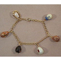 Russian Egg Charm Bracelet-Museum Collection