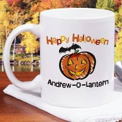 Jack-O-Lantern Halloween Personalized Coffee Mug