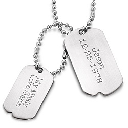 Urban Double Dog Tag Necklace