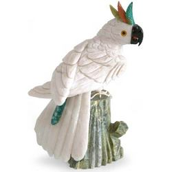 Jasper Crested Onyx Cockatoo Sculpture