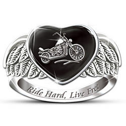 Women's Ride Hard, Live Free Motorcycle Ring