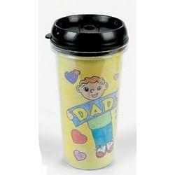 Color Your Own Dad Artist Travel Mug