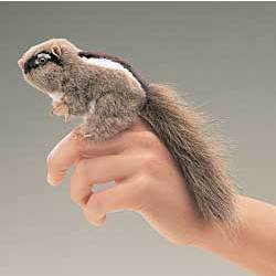 Cheeky Chipmunk Finger Puppet