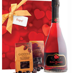 A Romantic Evening Gift Set with Rosa Regale & Godiva