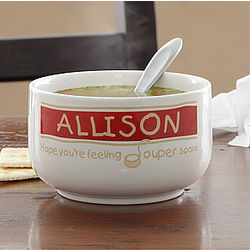 "Feeling ""Souper"" Personalized Stoneware Soup Bowl"
