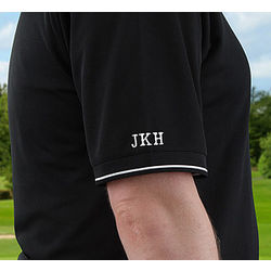 Personalized Nike Black Dri-FIT Polo Golf Shirt