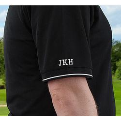 Personalized Nike Black Dri-FIT Polo Golf Shirt
