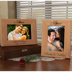 Personalized Love Wooden Picture Frame
