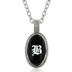 Personalized Black Onyx Pendant Necklace
