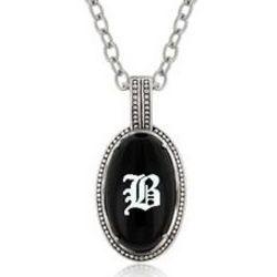 Personalized Black Onyx Pendant Necklace