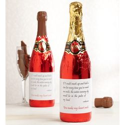 Message on a Bottle Chocolate Champagne Bottle