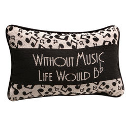 Without Music Life Would B Flat Pillow