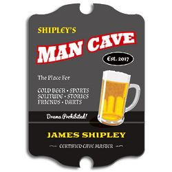 Cave Master Certified Personalized Bar Sign