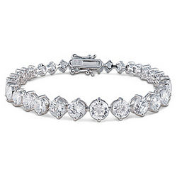 Brilliance Eternity Sterling Silver Diamonesk Bracelet