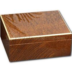 Cedar Lined Burlwood Cigar Humidor