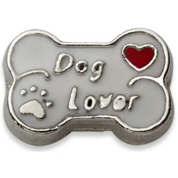 Silvertone Dog Lover Charm