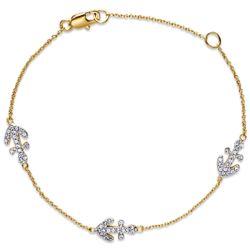 2-Tone Cubic Zirconia Anchor Bracelet