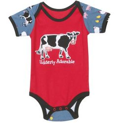 Baby's Udderly Adorable Snappy Snapsuit