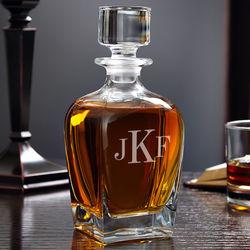 Draper Classic Personalized Monogram Whiskey Decanter