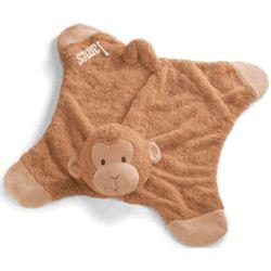 Personalized Baby Monkey Blankie Buddy