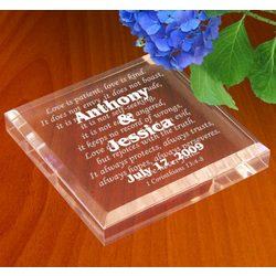 Personalized Love Never Fails Paperweight Keepsake