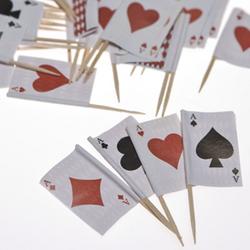 Playing Card Food Picks