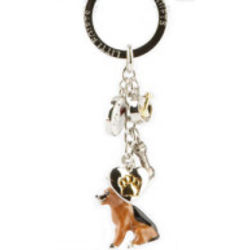 Hand Painted Dog Breed Key Chain