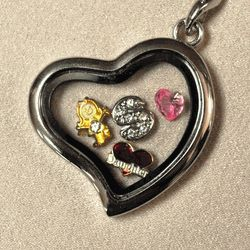 Loss of Daughter Heart Locket & Charms