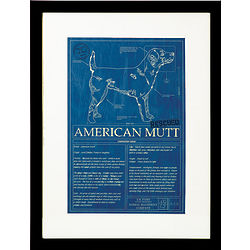 Framed American Mutt Blueprint