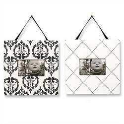 Black and White Heirloom Two-Piece Nursery Frame Set