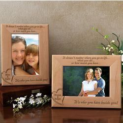 Personalized Always Beside You Wooden Picture Frame