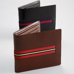Ribbon Strap Leather Wallet