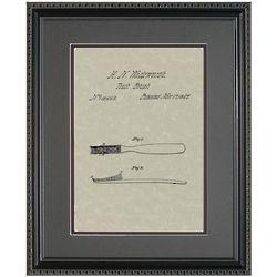 Toothbrush 11x14 Patent Framed Art