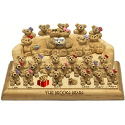 Couch on Plaque for Parents with up to 30 Family Bears
