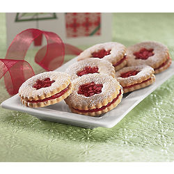 Gluten Free Raspberry Linzer Cookies