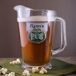 Personalized Irish Pub Glass Pitcher