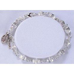 Sterling Silver Acorn Cap Rosary Bracelet