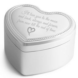 I'll Be There Heart Beaded Music Box