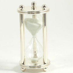 Silver Finish Chrome Sand Timer