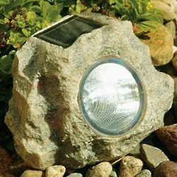 Solar Power Jumbo Sandstone Rock Spotlights