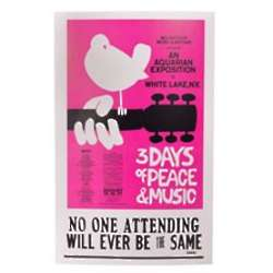 Woodstock 3 Days of Peace and Music Poster