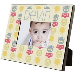 Monster Pattern Personalized Boy's Picture Frame
