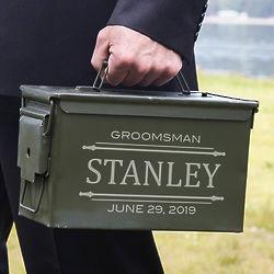 Groomsman's Personalized Stanford Ammunition Box