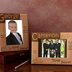 Personalized Ring Bearer Wooden Picture Frame
