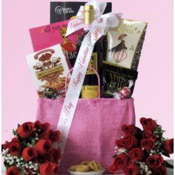 Valentine Diva Chianti Gift Basket