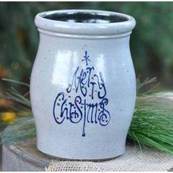 Holiday Stoneware Utensil Jar