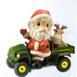John Deere Precious Moments Holiday Delivery Christmas Figurine