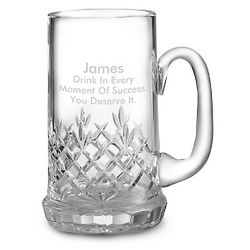 Small Cut Crystal Beer Mug Gift