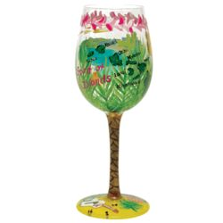 Hawaii Hand-Painted Wine Glass